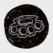 pic of brass knuckles  - Knuckles Doodle - JPG