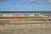 foto of beach hut  - France the picturesque beach huts of Le Touquet Paris Plage  - JPG