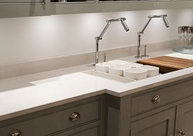 stock photo of tapping  - Modern and Contemporary Kitchen with Avant - JPG