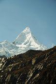 Beautiful summit Alpamayo in the Cordilleras mountain