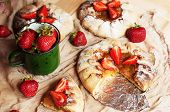 Постер, плакат: Strawberry Tart Strawberry Shortcake Strawberry Jam Serving H