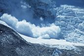 foto of avalanche  - avalanche in Himalaya - JPG
