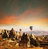 stock photo of chimney rock  - Cappadocia in Turkey - JPG