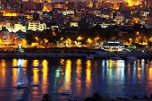 night city Aswan in Egypt