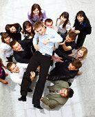 Businessteam aislado sobre fondo blanco