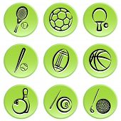 sport items icon set