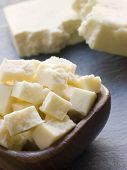 picture of paneer  - Pieces of Paneer Cheese - JPG