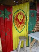 Painting on a rasta bar