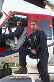 pic of medevac  - Portrait of pilot and paramedic by Medevac - JPG