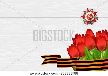 9 May Wooden Board Red