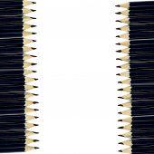 Group black pencils