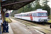 foto of motor coach  - railway station in Toucy - JPG