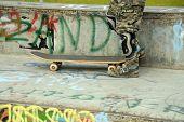Skateboard Ramp At Park