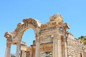 stock photo of brothel  - Temple of Hadrian in an antique city the Ephesus - JPG