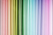 pic of end rainbow  - Rainbow color spectrum of thick paper ends from red to purple - JPG