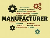 Manufacturer - Image With Words Associated With The Topic Automotive Industry, Word, Image, Illustra poster