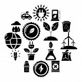 Ecology Icons Set. Simple Illustration Of 16 Ecology Vector Icons For Web poster