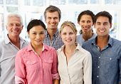 pic of mixed race  - Mixed group business people in office - JPG