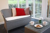 Rattan Furniture In Conservatory