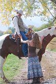 Cowboy Saying Goodbye