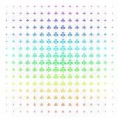 Ecology Man Icon Rainbow Colored Halftone Pattern. Vector Ecology Man Objects Organized Into Halfton poster