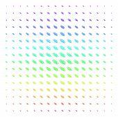 Galaxy Icon Spectrum Halftone Pattern. Vector Galaxy Pictograms Arranged Into Halftone Grid With Ver poster