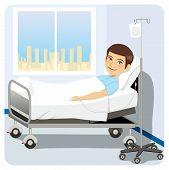 Man At Hospital Bed