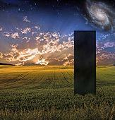 Black Monolith in Landscape