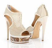 Isolated High Heel Woman Shoes