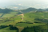 Landscape In Emilia Romagna (italy) From Sogliano At Summer