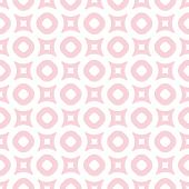 Cute Vintage Seamless Pattern In Trendy Pastel Colors, Light Pink And White. Abstract Background Wit poster