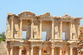 foto of brothel  - Roman Library of Celsus in an antique city the Ephesus - JPG