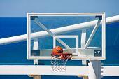 Basketball Hitting Net On Cruise Ship Court