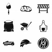 Occupation Icons Set. Simple Set Of 9 Occupation Vector Icons For Web Isolated On White Background poster