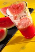 Summer Fruit Juice Drink. Cool Refreshing Watermelon Smoothie. Hot Day Refreshment. Vibrant Colorful poster