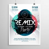 Remix Club Party Flyer Poster Template Vector poster