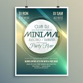 Minimal Club Music Flyer Brochure Template In Modern Style poster