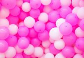 Air Balloons Background. Pink Airballoons Texture. Girl Birthday Or Romantic Wedding Photo Backdrop. poster