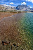 Colorful Alpine Lake
