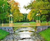 The bridge in Alexander`s park in Tsarskoe Selo