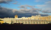 picture of tsarskoe  - View of palace in Tsarskoe Selo St Petersburg Russia - JPG