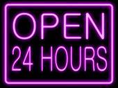 Neon Effect  Open 24 Hours