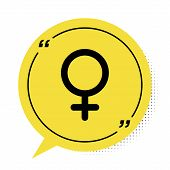 Black Female Gender Symbol Icon Isolated On White Background. Venus Symbol. The Symbol For A Female  poster
