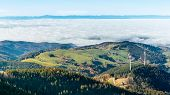 Panoramic Landscape From Schauinsland Mountain In The German Black Forest Region (schwarzwald), Bade poster