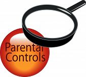 Magnifying Glass On Parental Controls Button.