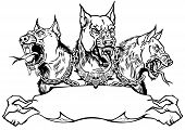 Cerberus Hell Hound. Mythological Three Headed Dog The Guard Of Entrance To Hell. Hound Of Hades. Lo poster