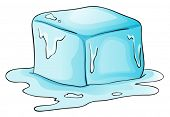 Illustration of a block of ice
