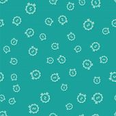 Green Price Tag With Dollar Icon Isolated Seamless Pattern On Green Background. Badge For Price. Sal poster