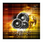 Party night background with speakers shiny background, can be use as flyer, banner or poster for discotheque, party and other events. EPS 10.