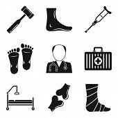 Podiatrist Icons Set. Simple Set Of Podiatrist Vector Icons For Web Design On White Background poster
